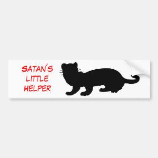 Satan´s Helper little con lineamiento de hurón Etiqueta De Parachoque