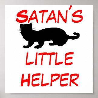 Satan´s Helper little con lineamiento de hurón Poster