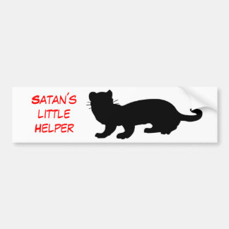 Satan´s Helper little con lineamiento de hurón Pegatina Para Auto