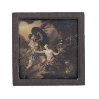 Satan, Sin and Death by William Hogarth Premium Jewelry Box