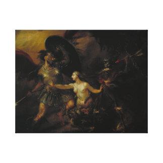 Satan, Sin and Death Canvas Print