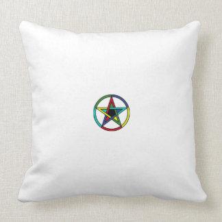 Satan star throw pillow