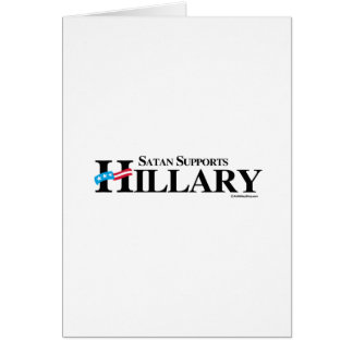 Satan Supports Hillary Stationery Note Card