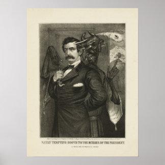 Satan tempting Booth [1865] Poster
