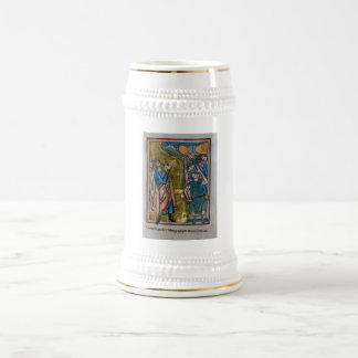 Satan Tempts the King Beer Stein