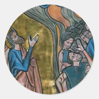 Satan Tempts the King Classic Round Sticker