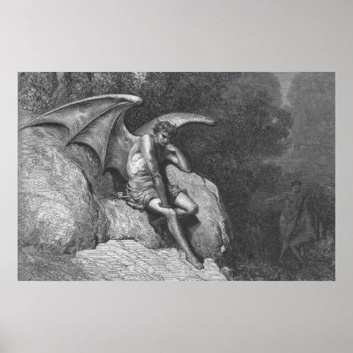 Satan Thinking Poster print