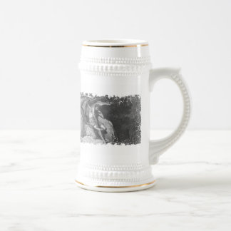 Satan Thinking Stein -distress edge graphic Coffee Mug
