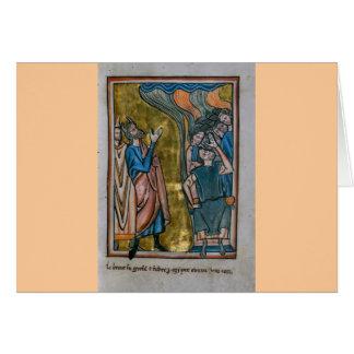 Satan tienta al rey tarjeta de felicitación