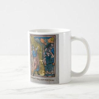 Satan tienta al rey tazas de café