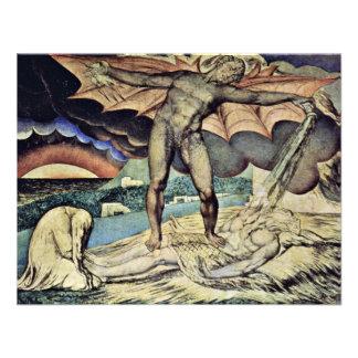 Satan vierte las plagas sobre trabajo de Guillermo Invitación Personalizada
