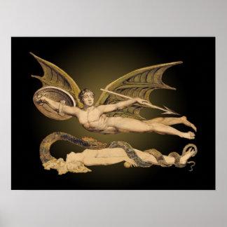 Satan y poster del arte de Eve 24x18