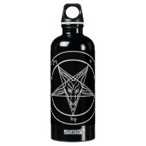 satanic aluminum water bottle