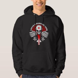 Satanic Biker Skull and Wings Emblem Hoodie