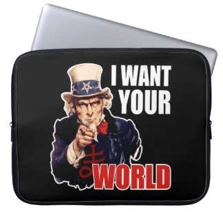 Satanic Capitalist Uncle Sam Computer Sleeve