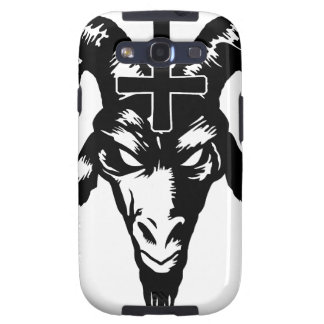 Satanic Goat Head with Cross (black) Galaxy SIII Cases