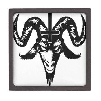 Satanic Goat Head with Cross (black) Premium Jewelry Box