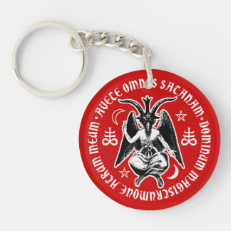 Satanic Goat Headed Baphomet Keychain