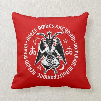 Satanic Goat Headed Baphomet Throw Pillows
