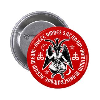 Satanic Goat Headed Baphomet Pinback Button