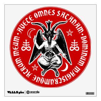 Satanic Goat Headed Baphomet Wall Sticker