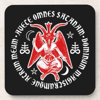 Satanic Goat Headed Hail Satan Baphomet Coaster