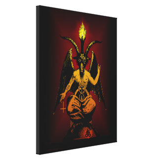 Satanic Goat on Stretched Canvas