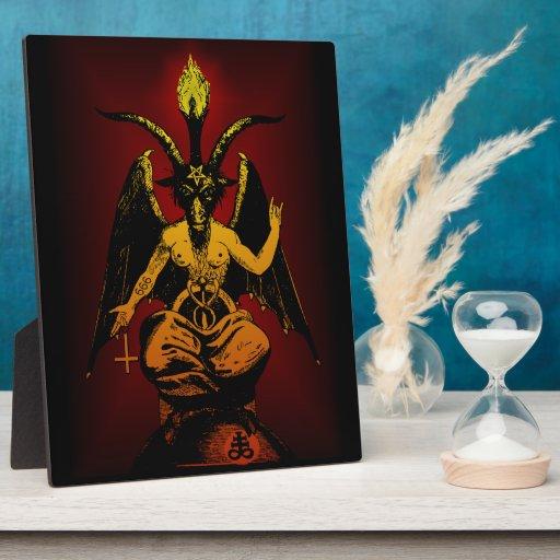 Satanic Goat stand-up plaque 8x10