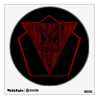Satanic Haunt Wall Decal(No Text) Wall Sticker
