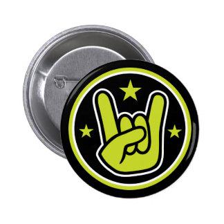 Satanic Horns Sign Devil's Hand Metal Gesture 2 Inch Round Button