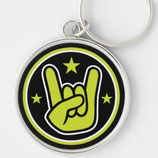 Satanic Horns Sign Devil's Hand Metal Gesture Keychain