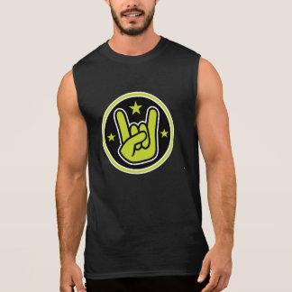 Satanic Horns Sign Devil's Hand Metal Gesture Sleeveless Tee