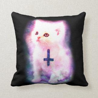 Satanic Kitten & Galaxy Pillow