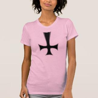satanic kitty, inverted cross shirt