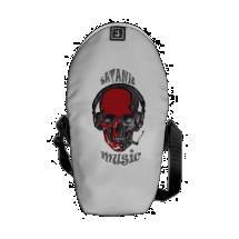 satanic music messenger bag