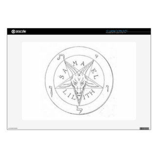 "Satanic Pentagram 2 Decals For 15"" Laptops"
