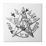 Satanic Pentagram Ceramic Tiles