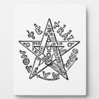 Satanic Pentagram Display Plaques