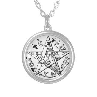 Satanic Pentagram Round Pendant Necklace