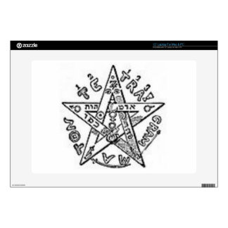 "Satanic Pentagram Skin For 15"" Laptop"