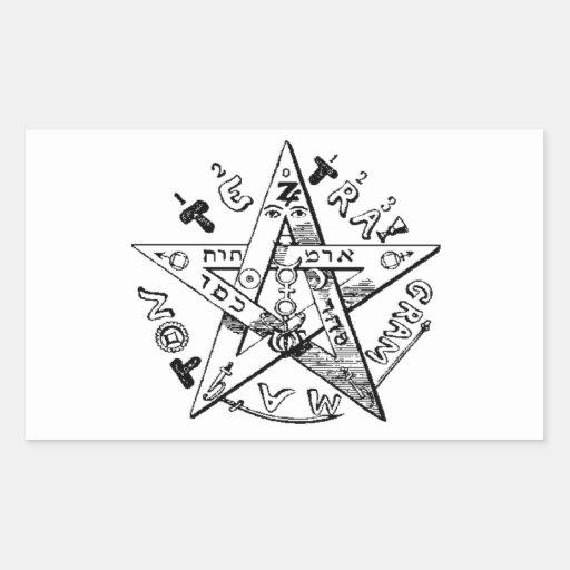 Satanic Pentagram Rectangle Stickers