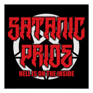 "Satanic Pride 24"" x 24"" Poster"