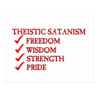 Satanism/dedicación teístas de Luciferianism Postal