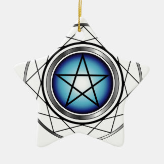 Satanism religioso del símbolo del pentáculo ornamentos de navidad