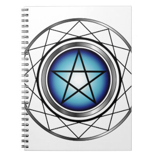 Satanism religioso del símbolo del pentáculo libro de apuntes
