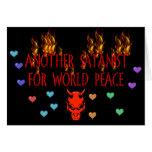 Satanist de la paz de mundo felicitación