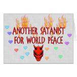 Satanist de la paz de mundo felicitaciones