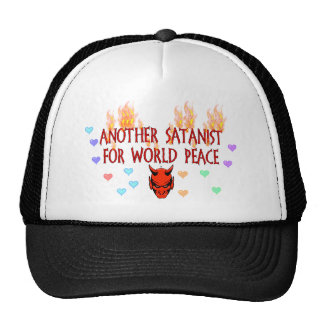 Satanist de la paz de mundo gorras de camionero