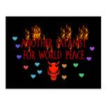 Satanist de la paz de mundo postales