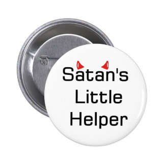 Satan's Little Helper Pinback Button